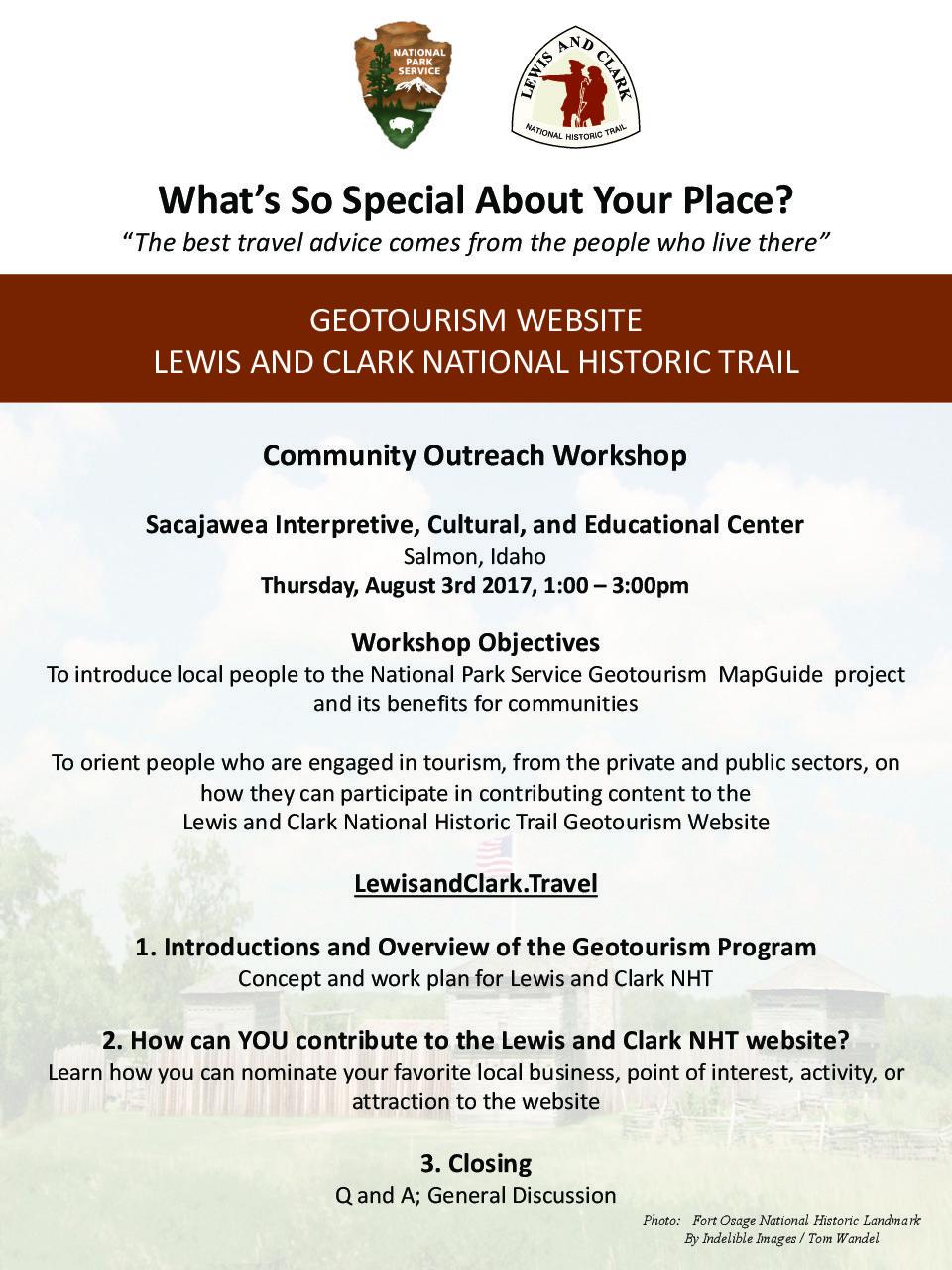 Lewis & Clark National Historic Trail Geotourism Workshop