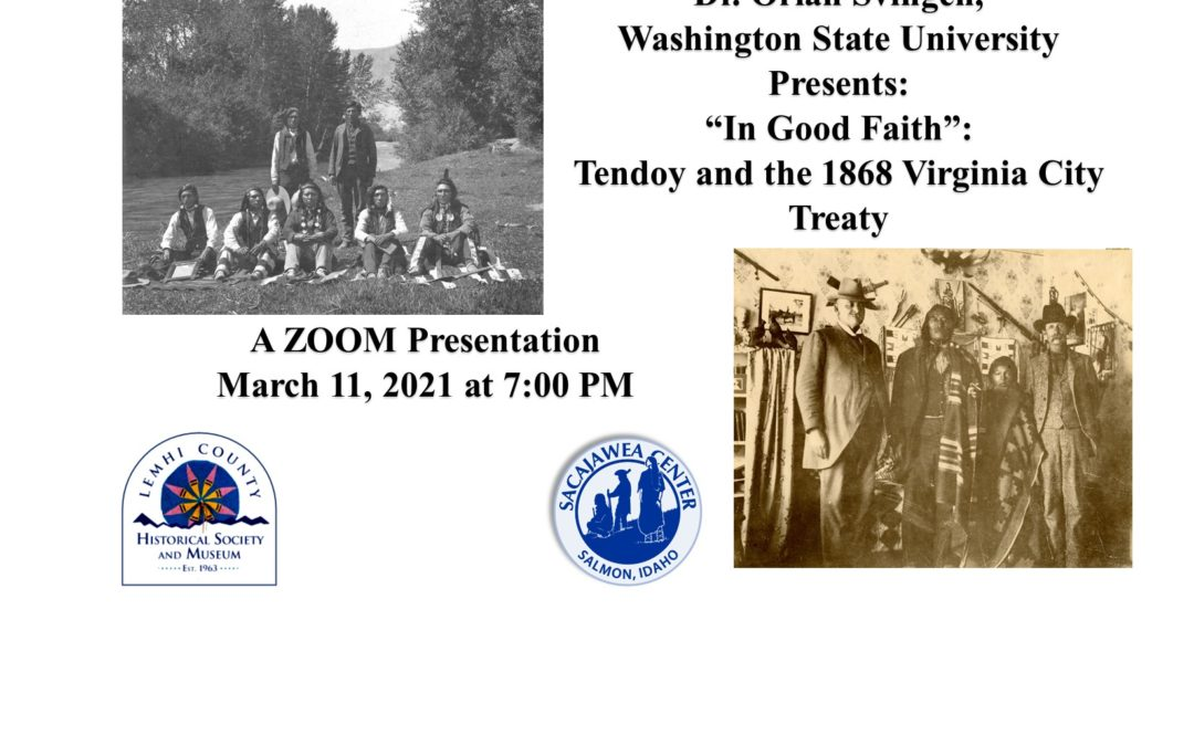"""In Good Faith"": ZOOM Presentation by Dr. Orlan Svingen- March 11th at 7:00pm"