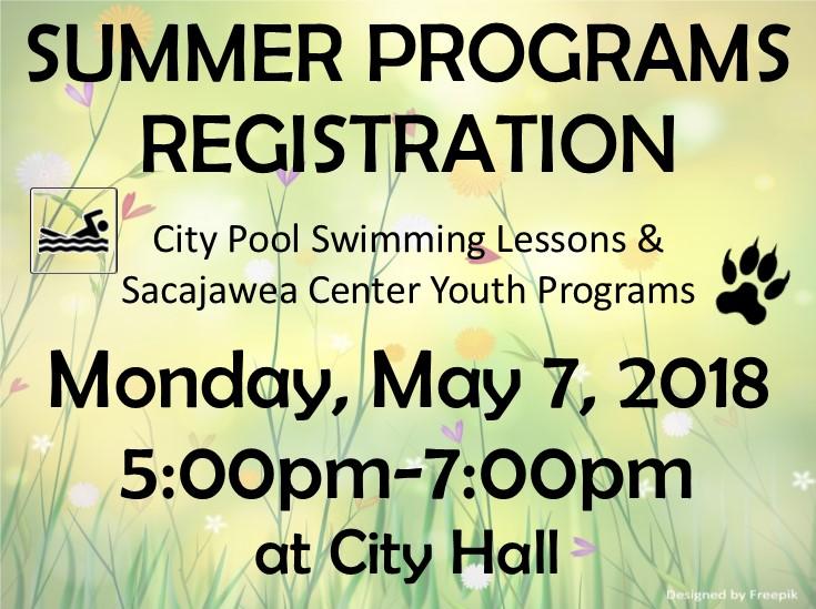 Summer Program Sign-ups Scheduled!