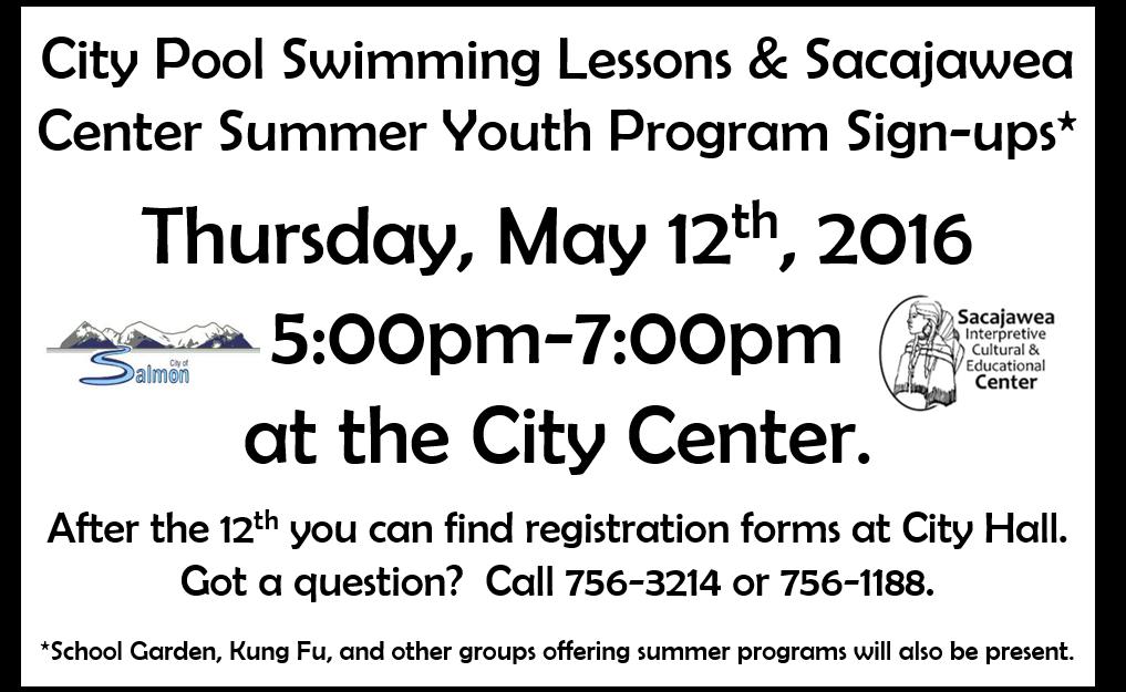 Program Sign-ups May 12th